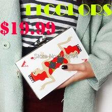 11 Farben 2016 Neue Poker frauen handtasche clutch abendtasche persönlichkeit Acryl Casual geldbeutelgeldbörse mode