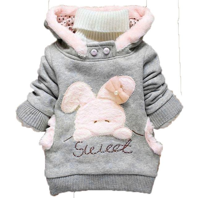 Primavera Outono Crianças Hoodies Casacos Meninos Camisolas Do Esporte Do Bebê Menino Hoodies Coelho Crianças Meninas Outerwear 2016 Novo