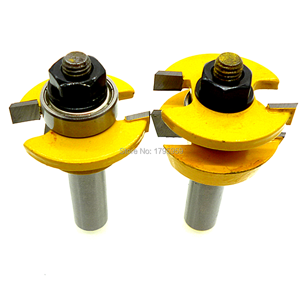 2pcs Wood Milling Carbide Cutters Shaker Style Cabinet