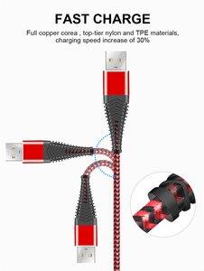 Image 5 - المصغّر usb كابل سريع كابل شحن 2.4A مزامنة البيانات كابل الهاتف المحمول لسامسونج هواوي شاومي LG Andriod المصغّر usb الهاتف