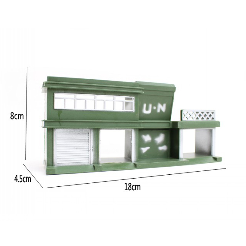 Action & Toy Figures The Cheapest Price Headquarters Barrack 18*4.5*8cm Sand Table Model Military Model Static Bulk Components Simulation Of Plastic Toys 1pcs/set Modern And Elegant In Fashion