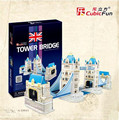 Cubicfun 3D Puzzle Toys 120PCS London Twin Bridge Model MC066h Children's Gift