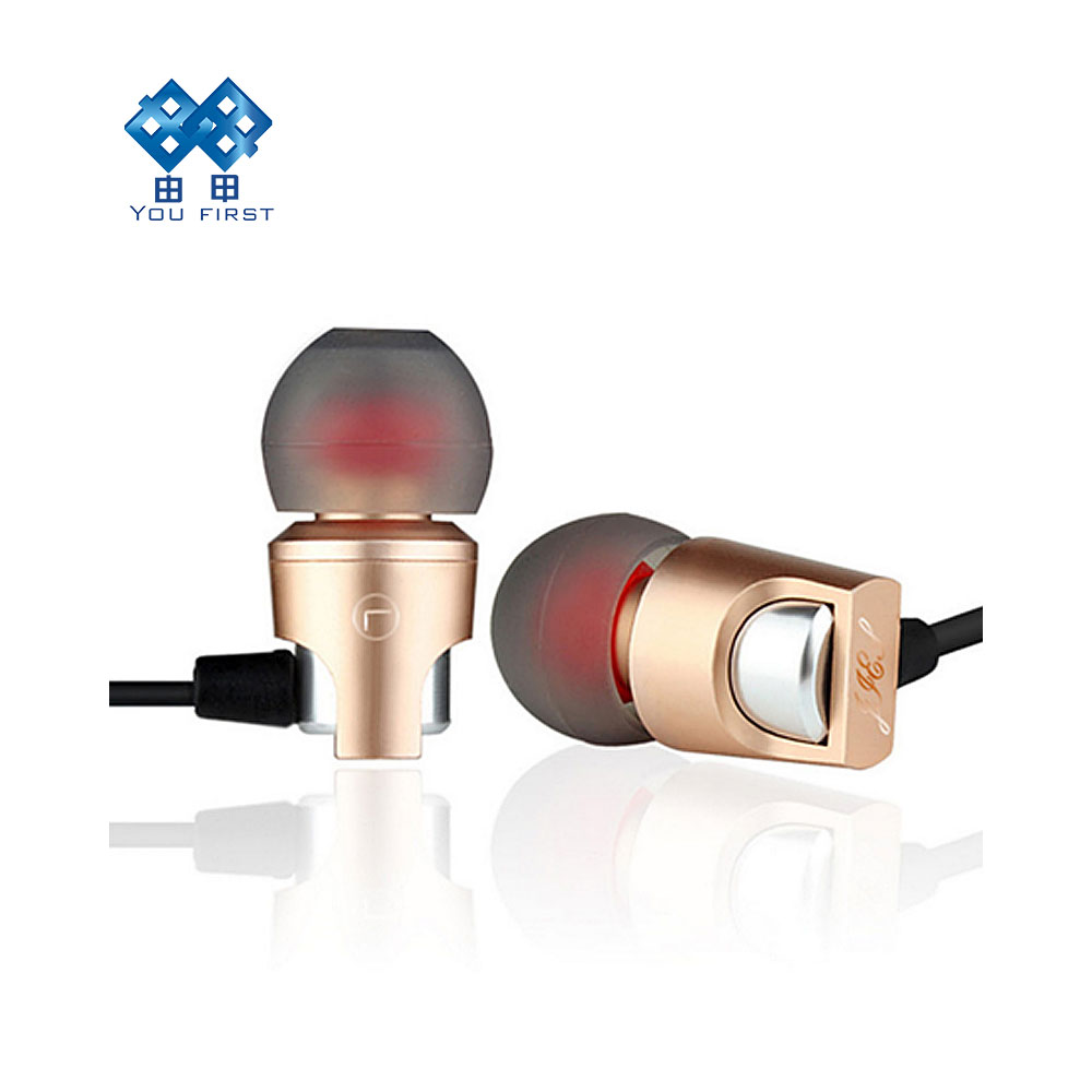 YOU FIRST Metal Earphone Waterproof Noise Cancelling Headset 3.5mm wired Ear 3D Bass Surround Sound For Xiaomi Iphone All Phone insermore active noise cancelling headphones wired bass stereo surround headset with mic flight headband for iphone xiaomi iq 3