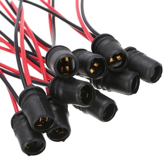 10pcs T10 W5W presa per lampadina a cuneo per auto presa per lampadina in gomma presa per portalampada connettore per auto camion barca