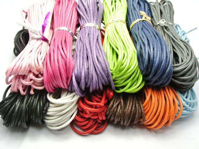 30 Meters Red Waxed Cotton Beading Cord Thread Line 2mm Jewelry String