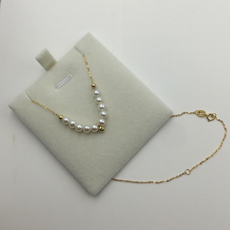 18k Au750 алтын жалатылған табиғи інжу - Жұқа әшекейлер - фото 3
