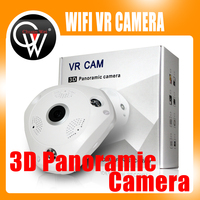 5pcs/lot 3D 360 3MP Fish Eye 3D Panoramic 1080P WIFI PTZ CCTV 3D VR Video IP Camera Cam Audio Remote Home Monitoring