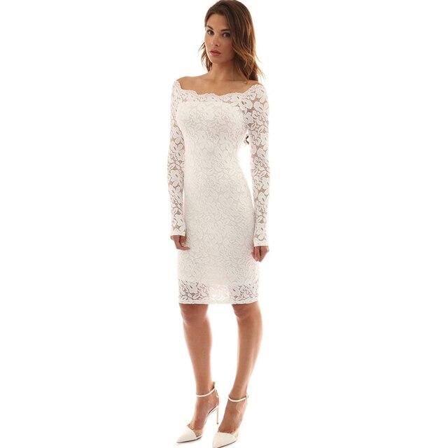 Mujeres Ahueca Casual Vaina Recto Negro Hacia Elegante Blanco Vestido Delgado Formal Fuera 2018 Rodilla wAXBqx0