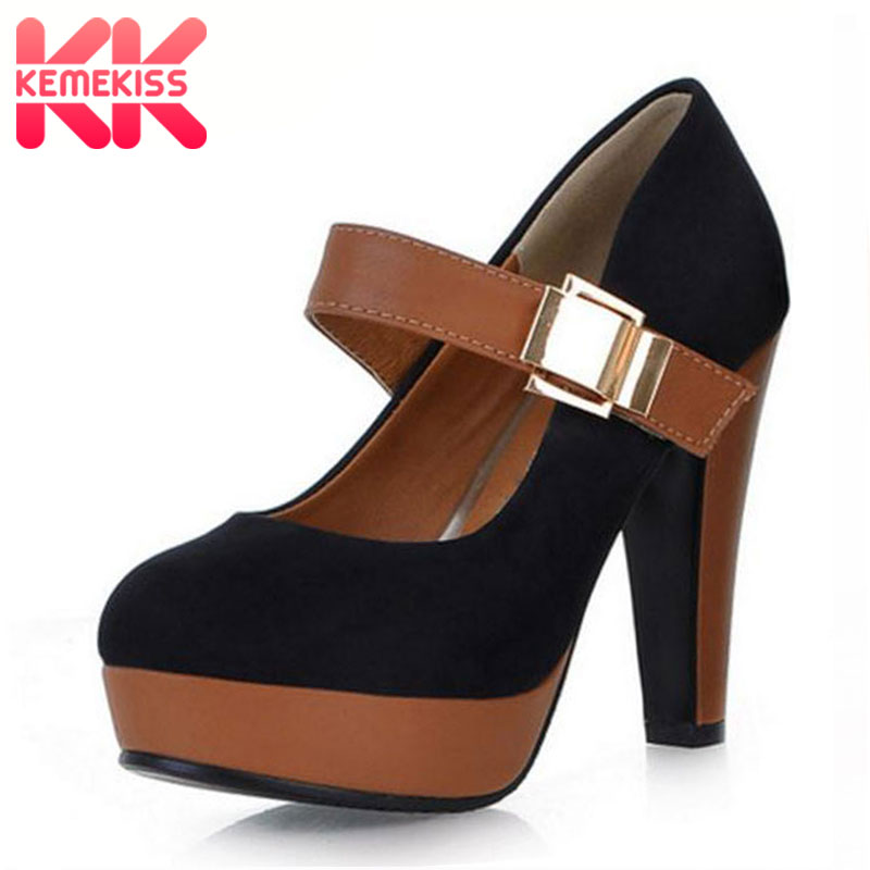 KemeKiss Women Pumps Woman High Heel Shoes High Quality Casual Lady Pumps Women Sexy Party Office Ladys Fashion Shoes Size 34-43 free shipping high heel wedge shoes women sexy dress footwear fashion pumps p10767 eur size 34 43