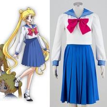 Аниме сейлор мун косплей костюм школьная форма одежды бесплатная доставка