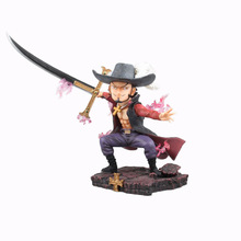 GK Anime one piece Dracule Mihawk Eagle Eye  pvc action figure anime one piece pop dracule mihawk gk statue figure figurine collectible model toy