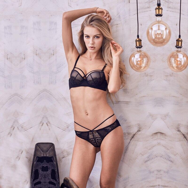 4372f054f VS Marca 2019 nova push up bra set explosão high-grade padding bra  calcinhas bordados feminino conjunto de lingerie de renda roupa interior  das mulheres