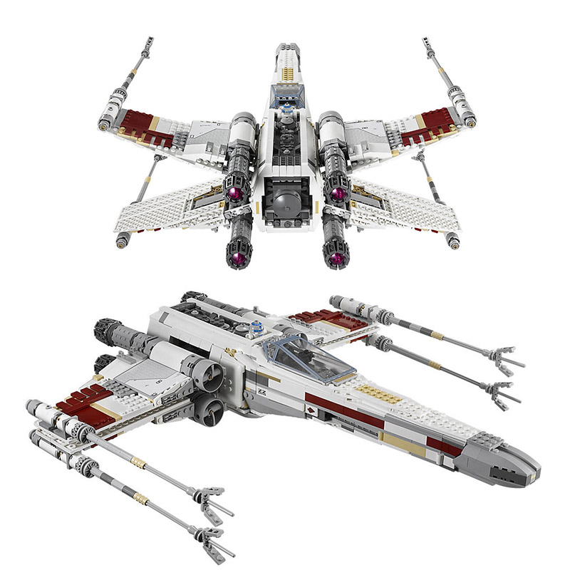 Lepin 05039 Star Genuine Wars Series Red Five X-wing Starfighter Toys fighter Set Building Blocks Bricks DIY Educational 10240 lepin 05040 star wars y wing attack starfighter model building kits blocks brick toys compatiable with lego kid gift set