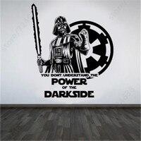 Large Star Wars Darth Vader Vinyl Wall Art Sticker Room Bedroom Movie Decal 3D Poster Wall