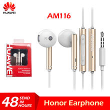 Original Huawei Honor AM116 Earphone Metal With Mic Volume Control For HUAWEI P7 P8 P9 Lite P10 Plus Honor 5X 6X Mate 7 8 9(China)