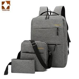 Image 2 - Mochila masculina backpack set 3 Pcs/set male Shoulder Bag Teenagers Man Student Book Bag erkek sırt çantası para adolescentes