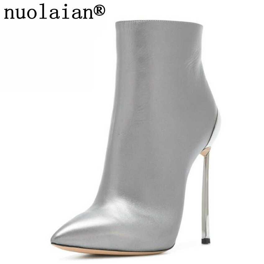 Wanita Bulu Imitasi Sepatu Bot Musim Dingin Wanita Sepatu Hak Tinggi Sepatu Bot Salju But Kulit Wanita Sepatu Hak Tinggi Wanita Sepatu Gaun sepatu