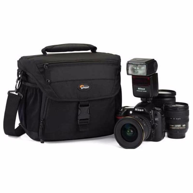 Wholesale Genuine Lowepro Nova 180 AW Black Shoulder Digital SLR Camera Photo Backpack Bag Case With 360 All Weather Cover