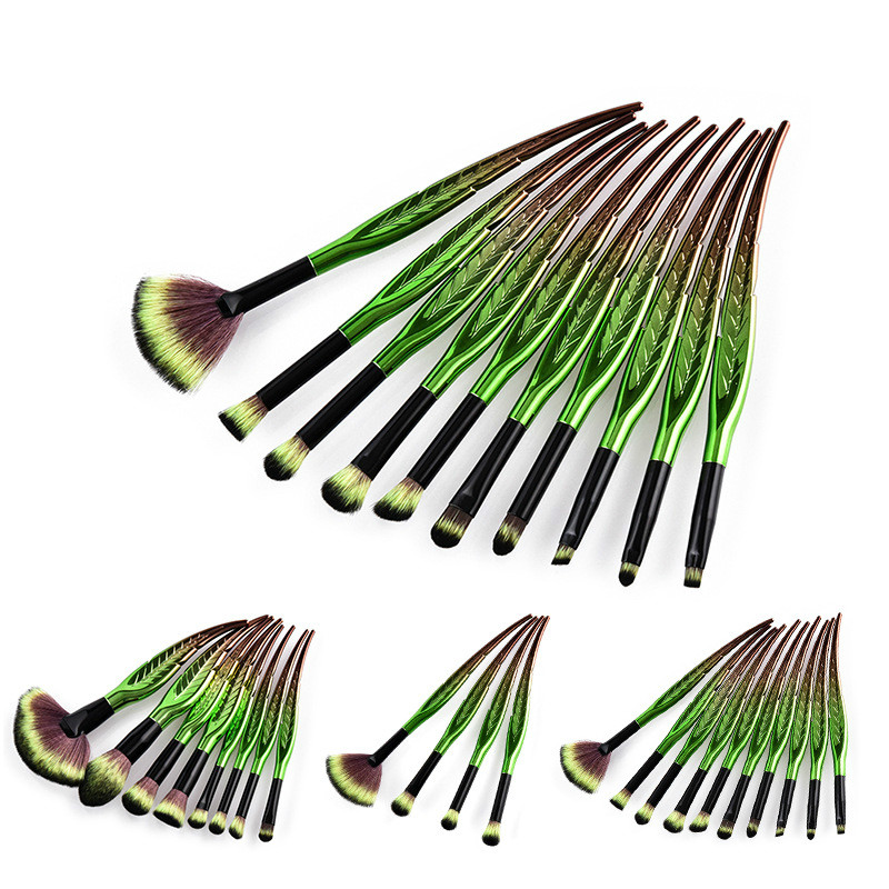 4/8/10Pcs Leaf Shape Makeup Brushes Set Foundation Blending Powder Eyeshadow Contour Concealer Cosmetic Beauty MakeUp Tools