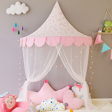 Hanging Kids Baby Bedding Dome Bed Canopy Cotton Mosquito Net Bedcover Curtain for Room Decor