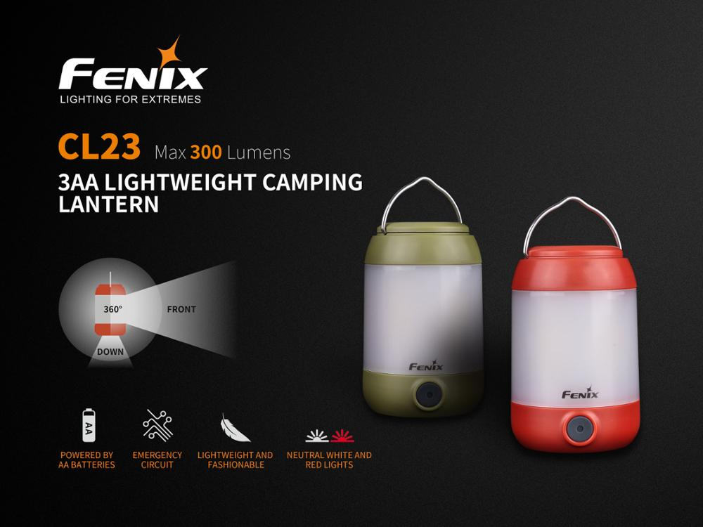 New Arrival Fenix CL23 300 Lumens Multi directional Lightweight Camping Lantern with 3 AA Batteries