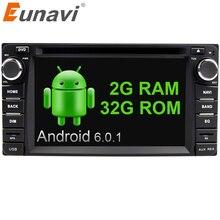 Eunavi 2din Android 6.0 4 Core 2G RAM car dvd player for Toyota Hilux VIOS Old Camry Prado RAV4 Prado 2003-2008 car stereo radio