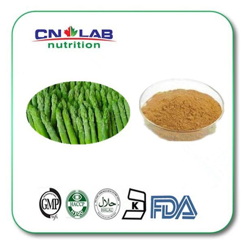 100% pure natural Asparagus extract  Asparagus flavonoids powder 5% 1000g/lot pure natural anti virus indigowoad root extract radix isatidis extract powder 400g lot
