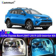 11 шт для Toyota Rav4 светодиодный Подсветка салона лампы Kit Car Лампы белый 2007-2016 2017 2018 2019 светодиодный интерьер свет комплект