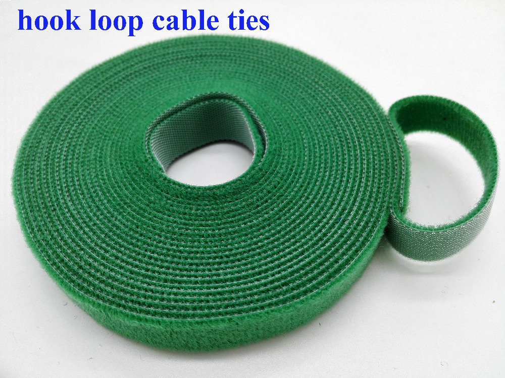 2 rolls 10mm*5M Reusable Nylon Cable Tie Strap Stick Ties Computer PC TV Wire cable Management magic tape tie wraps
