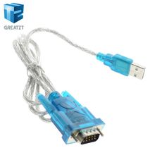GREATZT USB to RS232 Serial Port 9 Pin DB9 Cable Serial COM Port Adapter Convertor Z17 Drop Ship