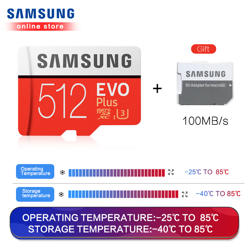 Carte mémoire Samsung Micro Sd Evo Plus 512 go Sdhc Sdxc Grade Class10 C10 Uhs-1 Tf cartes mémoire Flash 4k Microsd - 3