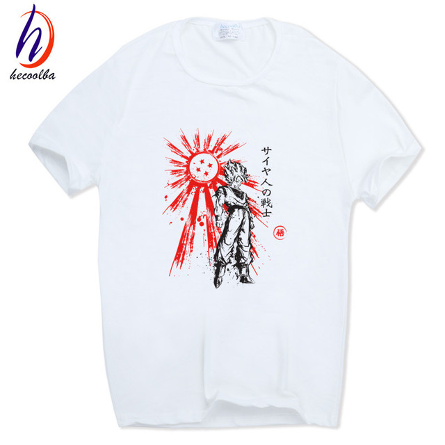 Hecoolba 2017 Dragon Ball Z Goku T-shirt Short sleeve O-Neck Tshirt Summer Saiyan Vegeta Harajuku brand clothing T shirt HCP316