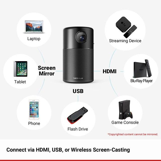 Anker Nebula Capsule Smart Portable Wi-Fi Mini Projector Pocket Cinema 6