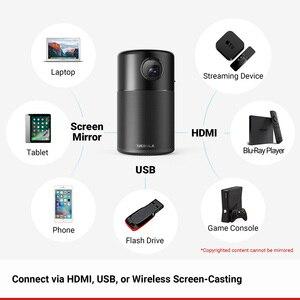 Image 5 - Anker Nebula, mini projektor kapsułkowy, inteligentny, przenośny rzutnik, do filmów, kieszonkowy, z głośnikiem DLP, 360 stopni, 100 cal, Android 7.1, aplikacja