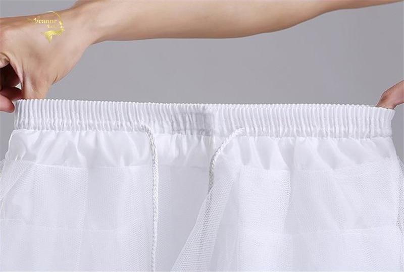 Top Quality Stock White Black Ballet Petticoat Tulle Ruffle Short Crinoline Bridal Petticoats Lady Girls Child Underskirt jupon 4