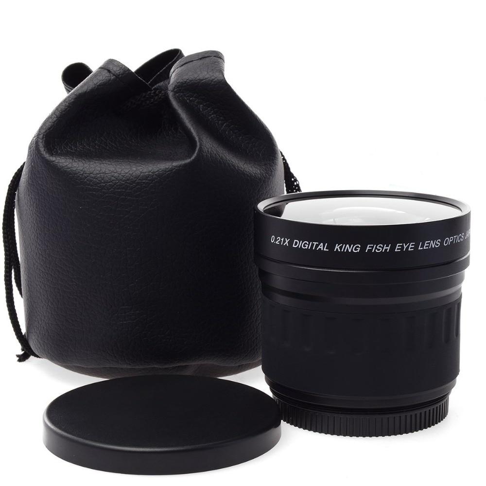 Lightdow 52mm 0.21X Fisheye pour Nikon D700 D300 D200 D90 D70 D3000 D3100 D3200 D5000 D5100 D5200 avec Objectif 18-55mm