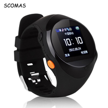 SCOMAS Professional GPS Tracking Smart Wrist Wathes for Children Elder SOS Anti-lost Alarm Watchphone Smartwatch for Android