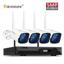 Einnov 5MP H.265 Full HD домашнего Беспроводной CCTV Камера Системы комплект видеонаблюдения Системы 5.0MP NVR WI FI безопасности Камера Системы