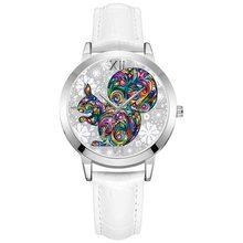 5d7064866c5 2018 Pequeno Mostrador do Relógio De Quartzo Das Mulheres Novo Padrão  Esquilo Mulheres Relógios Relógio de
