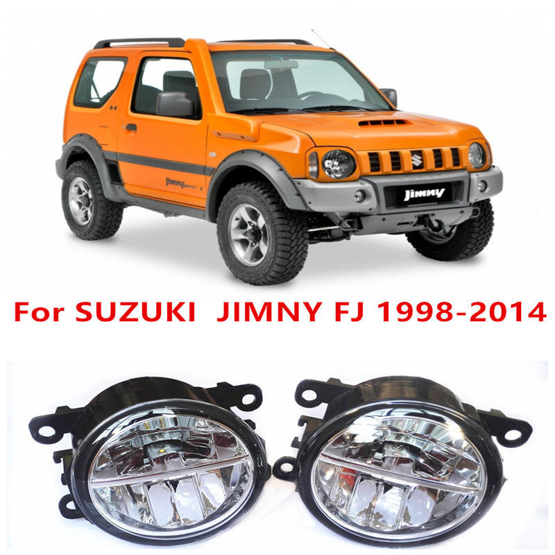 For SUZUKI  JIMNY FJ  Closed Off-Road Vehicle  1998-2014 Fog Lamps LED Car Styling 10W Yellow White 2016 new lights  for suzuki jimny fj closed off road vehicle 1998 2013 10w high power high brightness led set lights lens fog lamps
