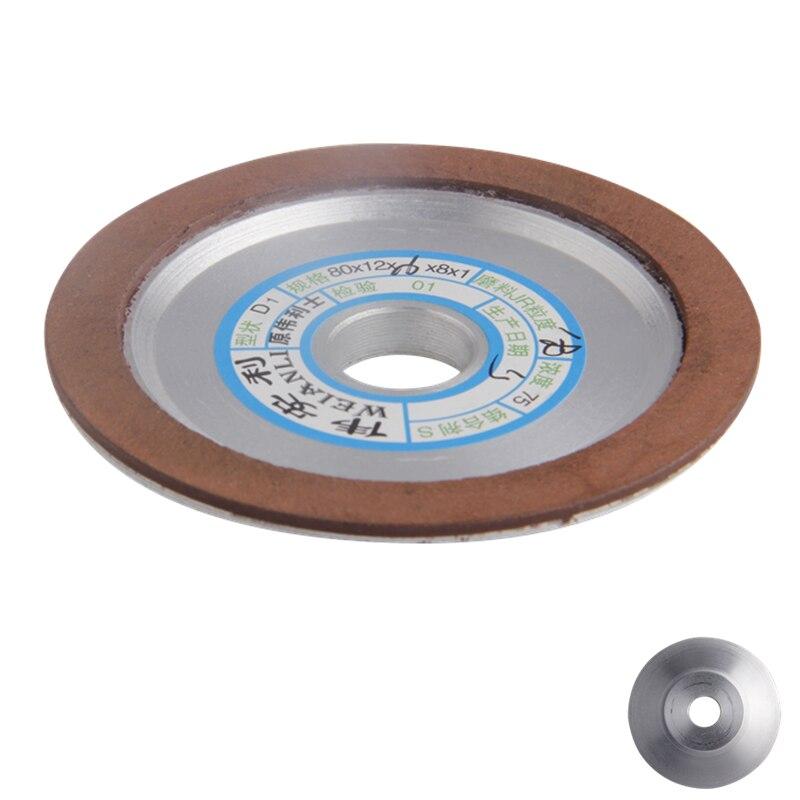 1PC Grinding Wheel Diamond Grinding Wheel 80*12*16*8mm Disc 150/180/240/320 Grain Polishing Wheel Power Tool Accessories