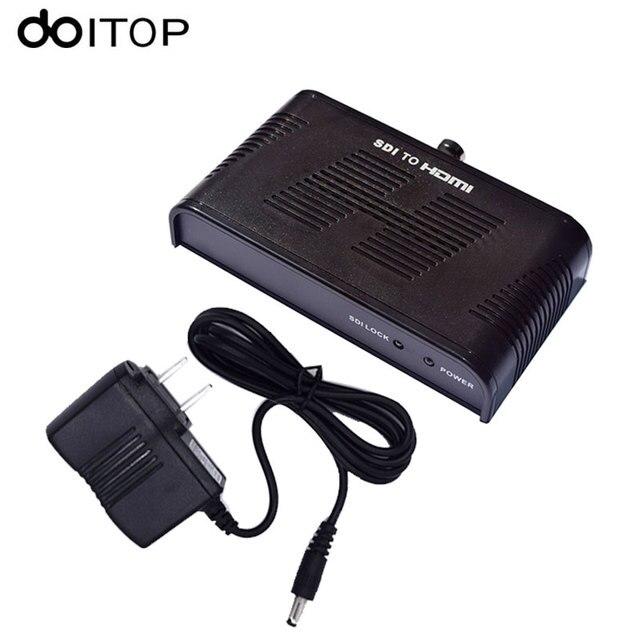 DOITOP SDI to HDMI Converter SD-SDI HD-SDI 3G-SDI to HDMI Adapter Converter 720p 1080p Network Unlimited Extender for Monitors
