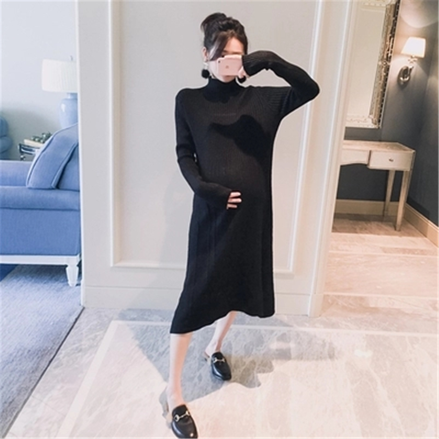 Maternity Dresses Female Clothes Pregnant Women Winter Sweater Robe Enceinte Skirt Pregnancy Clothes Knitted Dress New 70R0172