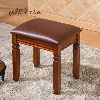 wood shoe stool PU cushion