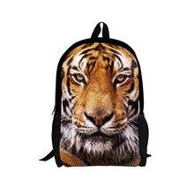 Enfriar la Cabeza Del Tigre Mochila Escolar Mochila Kids Niños Mochila Animal Leopard Tiger Zoo Mochila Adolescente Niños Mochila de Viaje