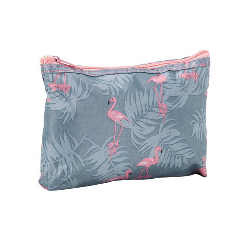 Large Size Cute Flamingo Cosmetic Bag Travel Zipper Storage Makeup Bag Organizer Portable Ladies Neceser Pouch Make Up Case
