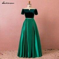 Зеленое и Черное длинное вечернее платье robe femme A Line атласное вечернее платье для вечеринки короткие платья vestido de festa Светоотражающие платья