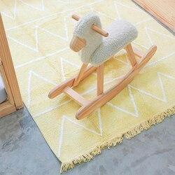 Nordic Kinder Teppich Bauch Zeit Baby Spielen Matte Macrame Playmat Baby Gym Aktivität Matten Teppich Spielzeug Tapete Infantil für Baby room Decor