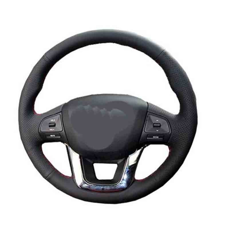 Car Accessories Leather Hand Stitched Car Steering Wheel