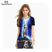 SecretTimes New Summer Style Men Women 3D Print T shirt Cat Knight Fitness Casual T-shirt Short Sleeve Tops Tees Unisex